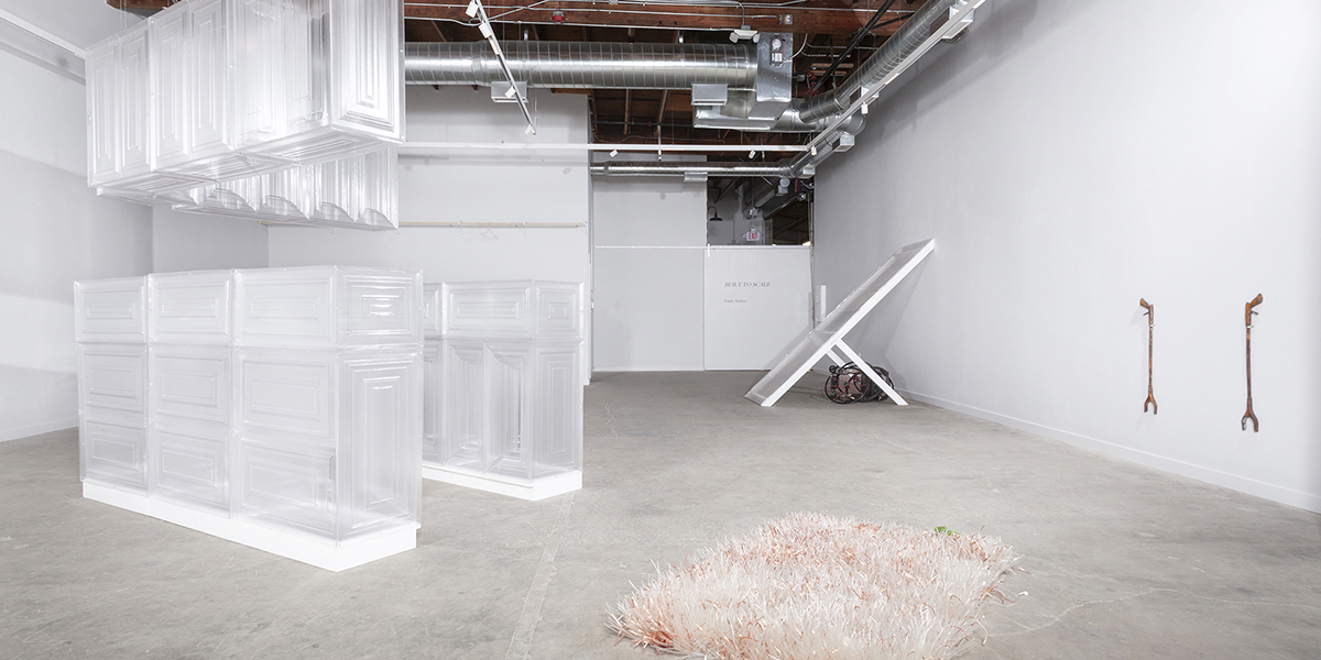 Emily Barker, Built to Scale (installation view). Image courtesy of the artist and Murmurs. Photo: Josh Schaedel.